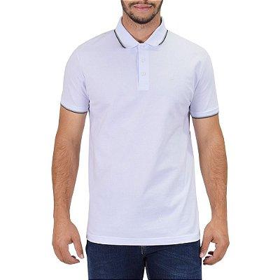 Camisa Polo Básica - Branca e Cinza - Ellus