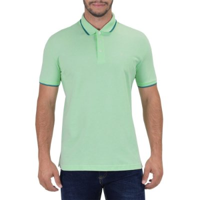 Camisa Polo Básica - Verde Mar - Ellus