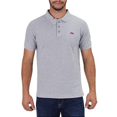 Camiseta Polo Masculina - Cinza Claro - Levis