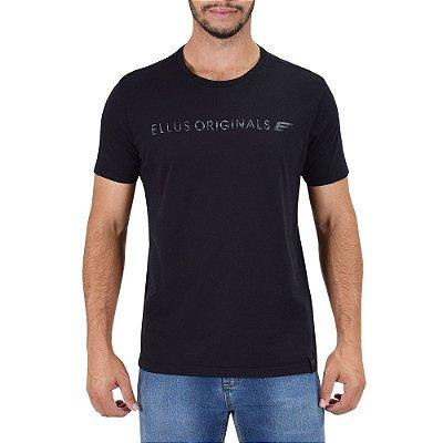 Camiseta Masculina Originals E - Preta - Ellus
