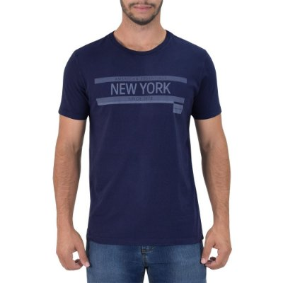 Camiseta Masculina New York Regular Fit - Azul - Calvin Klein