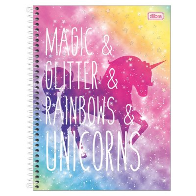 Caderno Blink - Magic & Glitter - 1 Matéria - Tilibra