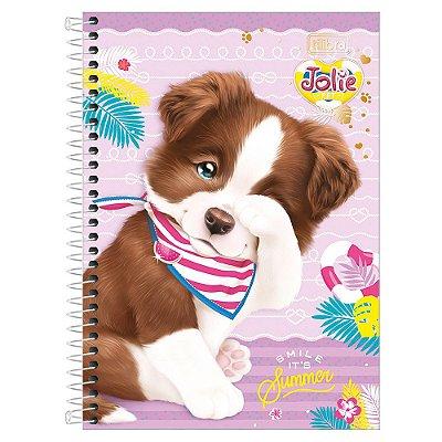 Caderno Jolie Pet - Cachorrinho - 1 Matéria - Tilibra