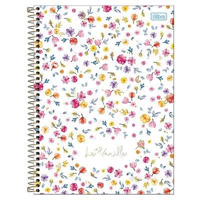 Caderno Le Vanille - Branco - 1 Matéria - Tilibra