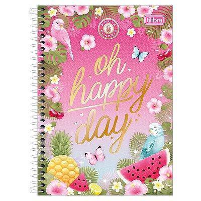 Caderno Jolie Classic - Oh Happy Day - 1 Matéria - Tilibra