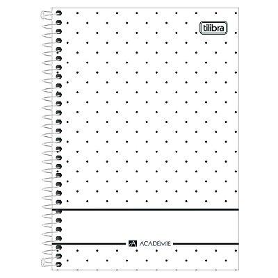 Caderno Académie Poá - Branco - 10 Matérias - Tilibra