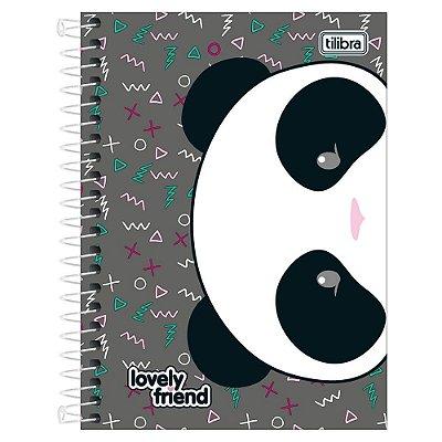 Caderno Lovely Friend - Panda - 10 Matérias - Tilibra