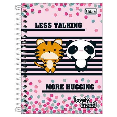 Caderno Lovely Friend - Tigre e Panda - 10 Matérias - Tilibra