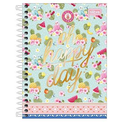 Caderno Jolie Classic - Oh Happy Day -  10 matérias - Tilibra