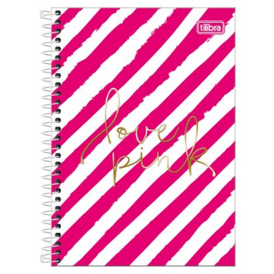 Caderno Love Pink - Listras - 16 Matérias - Tilibra
