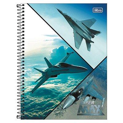 Caderno Super Max - Aviões - 1 Matéria - Tilibra