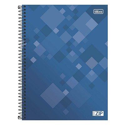 Caderno Zip - Azul - 1 Matéria - Tilibra