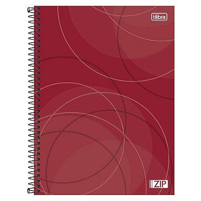 Caderno Zip - Vermelho - 1 Matéria - Tilibra