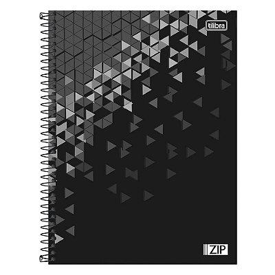 Caderno Zip - Preto - 1 Matéria - Tilibra