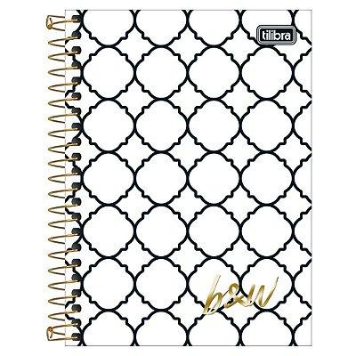 Caderno B&W - Decorado - 160 Folhas - 10 Matérias - Tilibra