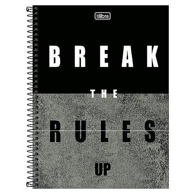Caderno Up - Break The Rules - 10 matérias - Tilibra