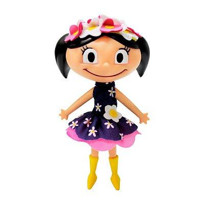 Boneca Luna Faz de Conta - Flores - Multibrink