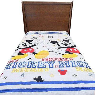 Edredom Dupla Face Solteiro Infantil - Mickey - Santista