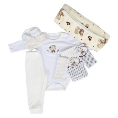 Baby Kit - Ursinho Bege - 8 Peças - Colibri