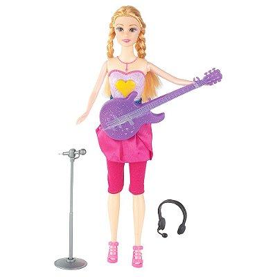 Boneca Linda Pop Star - Loira - Braskit