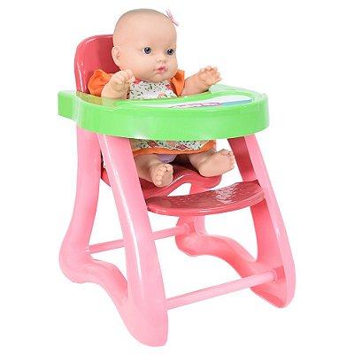 Boneca Baby Jr. Cadeirão de Papinha - Cotiplás