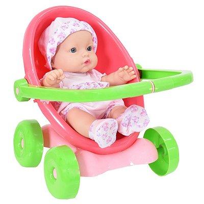 Boneca Baby Jr. Carrinho 3 em 1 - Cotiplás
