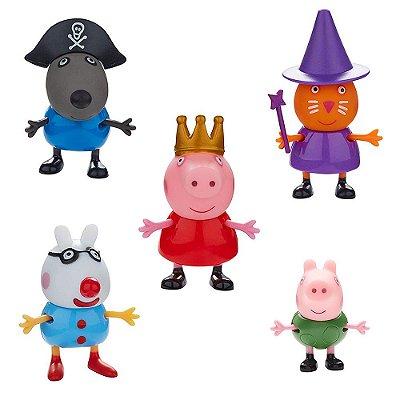 Conjunto Com 5 Bonecos - Peppa Pig - DTC