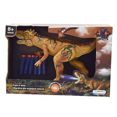 Dino Attack Com Dardos - Marrom - Multikids