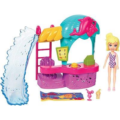 Polly Pocket - Quiosque Parque Aquático dos Golfinhos - Mattel