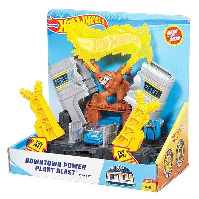 Conjunto Hot Wheels City - Usina Elétrica - Mattel