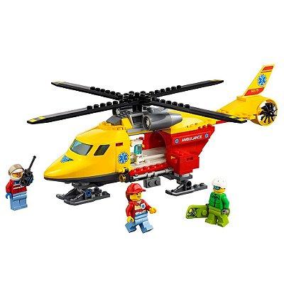 Lego City - Helicóptero Ambulância - 190 Peças - Lego
