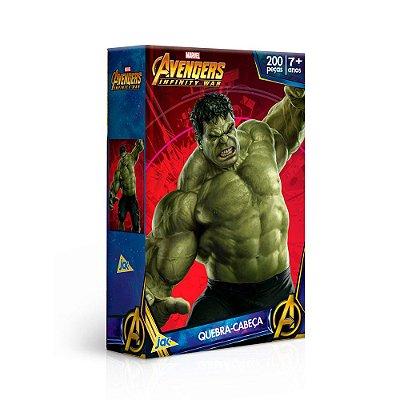 Quebra-Cabeça Avengers Infinity War - Hulk - 200 Peças - Jak