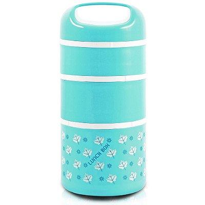 Kit de Potes de Marmita - 3 Peças - Azul - Jacki Design