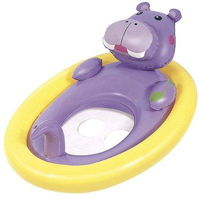 Boia Oval com Fralda Bichinhos - Hipopótamo - Mor