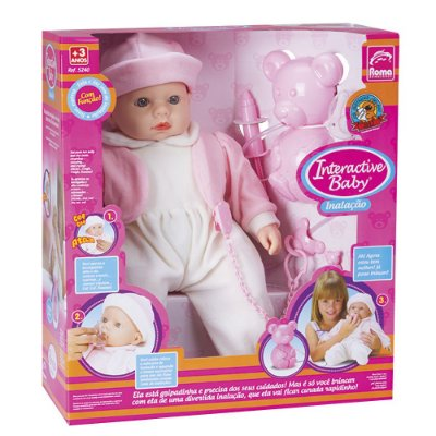Boneca Baby Inalação Interativa - Roma