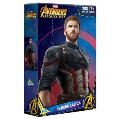 Quebra-Cabeça Avengers Infinity War - Capitão América - 200 Peças - Toyster