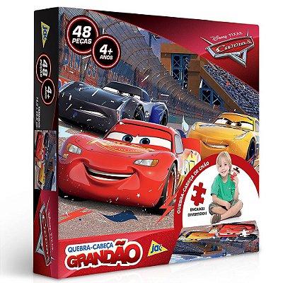 Quebra-Cabeça Grandão Carros - 48 peças - Toyster