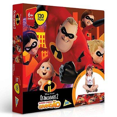Quebra-Cabeça Grandão Os Incríveis 2 - 120 peças - Toyster