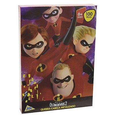 Quebra-Cabeça Metalizado Os Incríveis 2 - 100 peças - Toyster