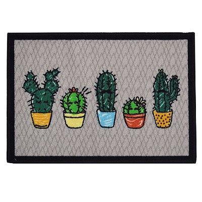 Tapete de Cozinha 45cm x 65cm - Cactus - Kacyumara