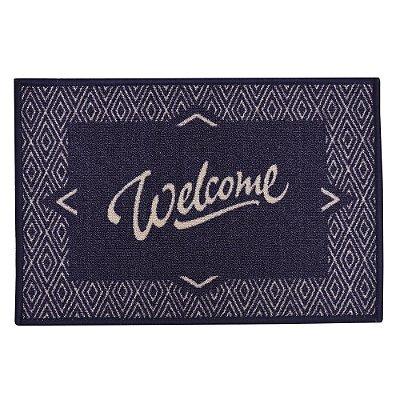 Tapete de Entrada - Welcome Azul - Kacyumara