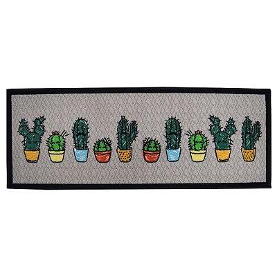 Passadeira de Cozinha 45cm x 120m - Cactus - Kacyumara