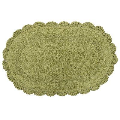 Tapete Oval de Crochê 40 x 60cm - Verde - Kacyumara