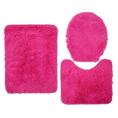 Jogo de Tapetes Para Banheiro Bella - Rosa - Jolitex