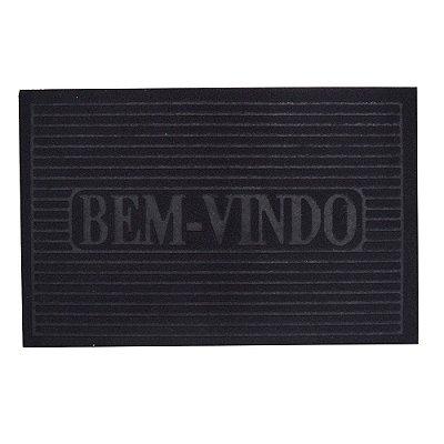 Capacho Bem-Vindo - 38 x 58 cm - Preto - Camesa