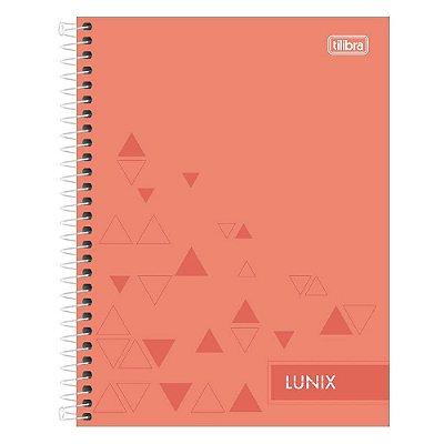 Caderno Colegial Lunix - Coral - 160 Folhas - Tilibra