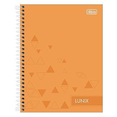 Caderno Colegial Lunix - Laranja - 160 Folhas - Tilibra