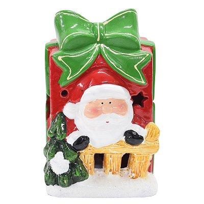 Enfeite de Natal - Papai Noel na Caixa - Com Led - Wincy