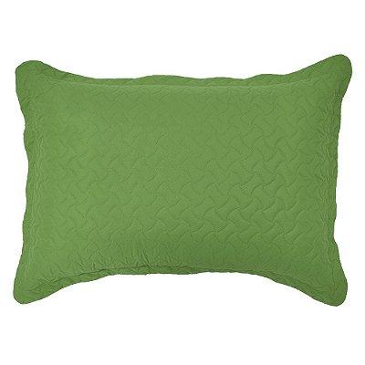 Porta Travesseiro Matelado - Verde - Inter Home