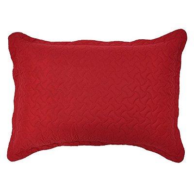Porta Travesseiro Matelado - Vermelho - Inter Home